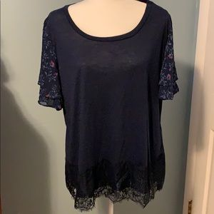 Maurice's lace detail knit top
